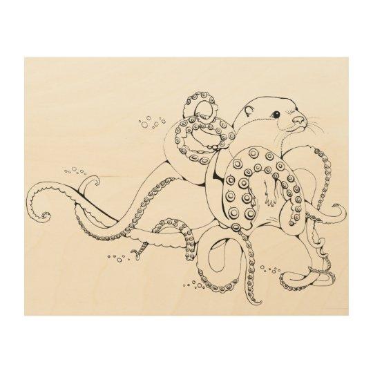 Otterpus Impresión En Madera