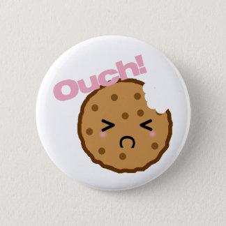 """¡""""Ouch! """"dice la galleta de Kawaii Chapa Redonda De 5 Cm"""