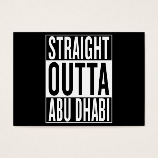 outta recto Abu Dhabi Tarjeta De Negocios