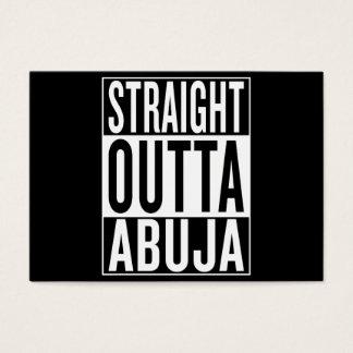 outta recto Abuya Tarjeta De Negocios