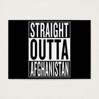 outta recto Afganistán Tarjeta De Negocios
