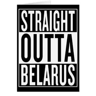 outta recto Bielorrusia Tarjeta De Felicitación