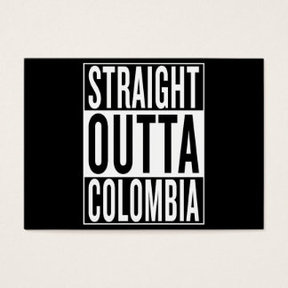 outta recto Colombia Tarjeta De Negocios