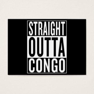 outta recto Congo Tarjeta De Negocios