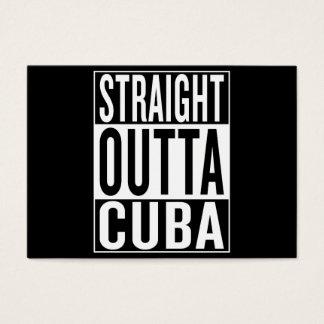outta recto Cuba Tarjeta De Negocios