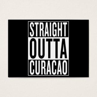 outta recto Curaçao Tarjeta De Negocios