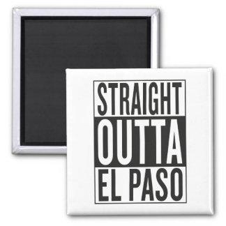 outta recto El Paso Imán Cuadrado