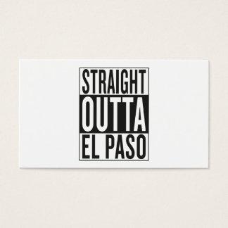 outta recto El Paso Tarjeta De Negocios