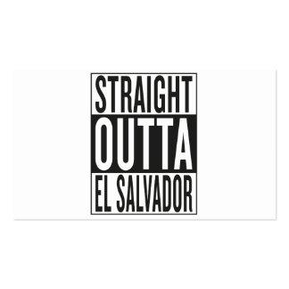 outta recto El Salvador Tarjetas De Visita