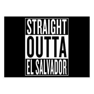 outta recto El Salvador Tarjetas De Visita Grandes
