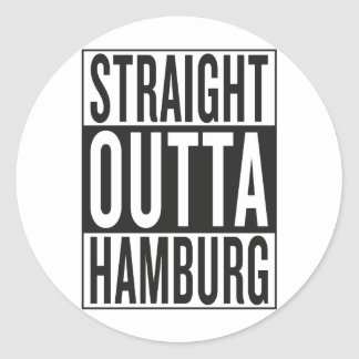 outta recto Hamburgo Pegatina Redonda