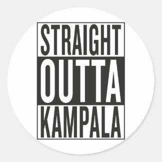 outta recto Kampala Pegatina Redonda