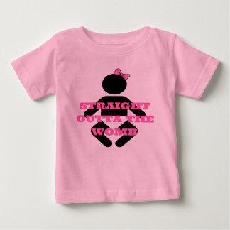 Outta recto la camisa de las niñas del rosa de la