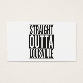 outta recto Louisville Tarjeta De Visita