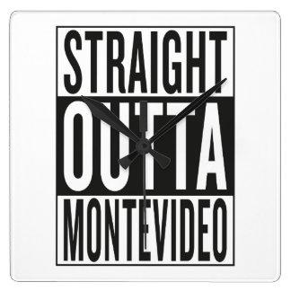 outta recto Montevideo Reloj Cuadrado