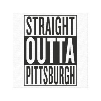 outta recto Pittsburgh Impresión En Lienzo