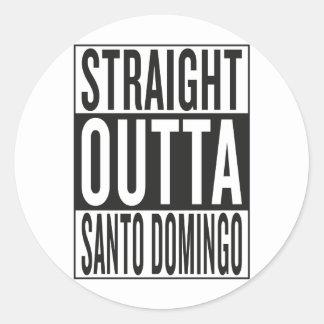outta recto Santo Domingo Pegatina Redonda
