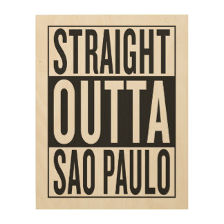 outta recto Sao Paulo Impresión En Madera