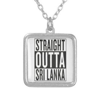 outta recto Sri Lanka Collar Plateado
