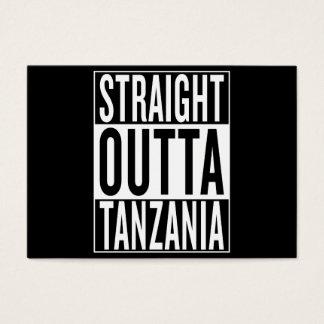 outta recto Tanzania Tarjeta De Negocios
