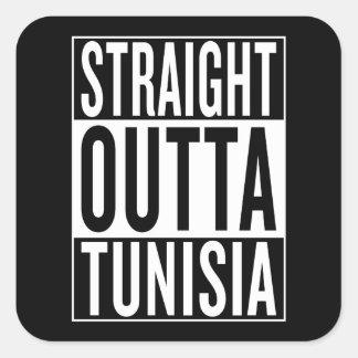outta recto Túnez Pegatina Cuadrada