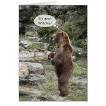 Ovación de pie del oso grizzly tarjetón