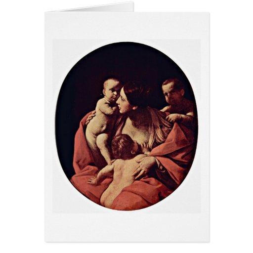 Óvalo de Caritas de Guido Reni Tarjeton