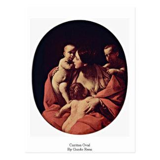 Óvalo de Caritas de Guido Reni Tarjeta Postal