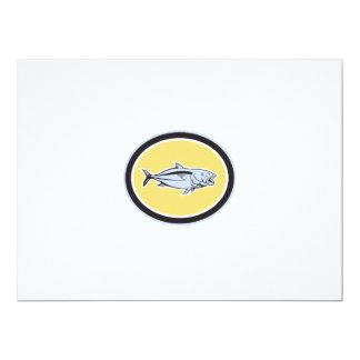 Óvalo del dibujo animado del carita invitación 16,5 x 22,2 cm
