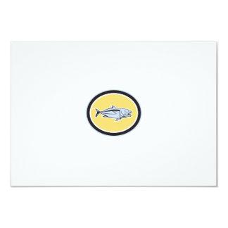 Óvalo del dibujo animado del carita invitación 8,9 x 12,7 cm