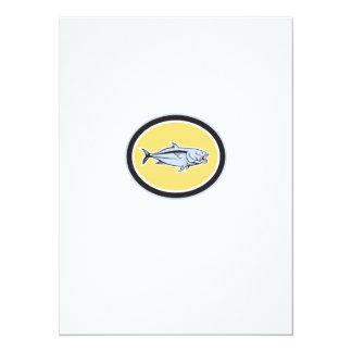 Óvalo del dibujo animado del carita invitación 13,9 x 19,0 cm
