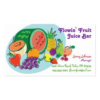 Óvalo del fruity_blue del bar de zumos y de tarjetas de visita