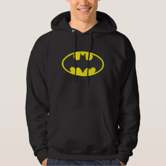 Óvalo del logotipo del palo de Batman Sudadera Con Capucha