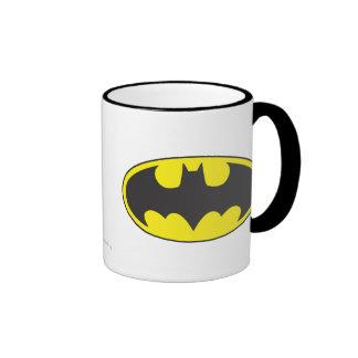 Óvalo del logotipo del palo de Batman Taza De Dos Colores