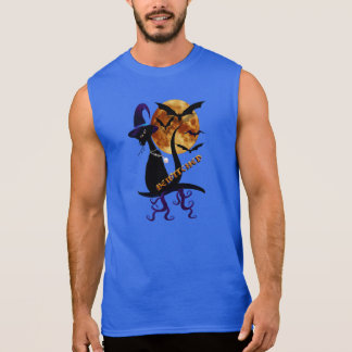 Óvalo negro Bewitching del gatito Camiseta Sin Mangas