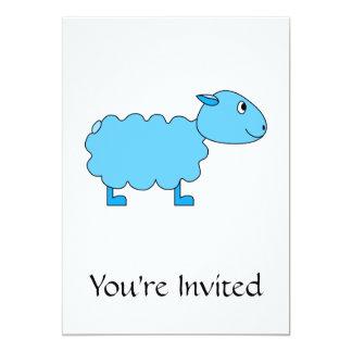 Ovejas azules invitación 12,7 x 17,8 cm