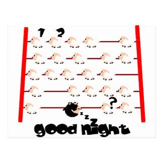 ovejas de las buenas noches postal