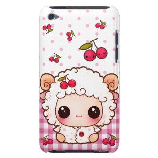 Ovejas del bebé de Kawaii y cerezas lindas Funda iPod