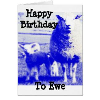 Ovejas del cumpleaños tarjeta