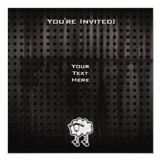 Ovejas del Grunge Invitación 13,3 Cm X 13,3cm