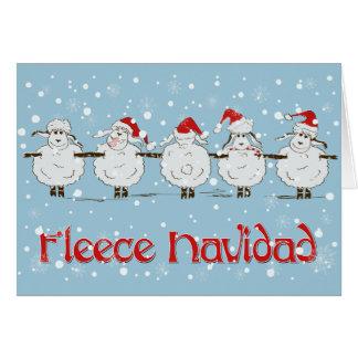 Ovejas DIVERTIDAS adorables del navidad de Navidad Tarjeta De Felicitación