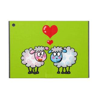 Ovejas divertidas del dibujo animado, casando pare iPad mini protectores