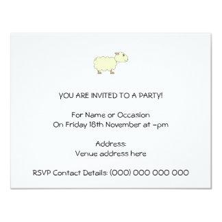 Ovejas Invitación 10,8 X 13,9 Cm