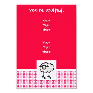 Ovejas lindas invitación 12,7 x 17,8 cm