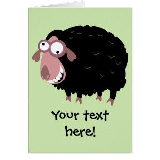 Ovejas negras divertidas tarjeta