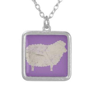 ovejas púrpuras colgante cuadrado