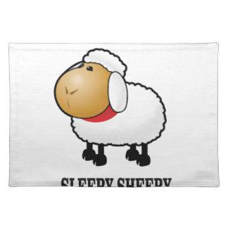 ovejas soñolientas salvamanteles