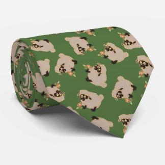 Ovejas tontas del Blackface en un lazo verde del Corbatas Personalizadas