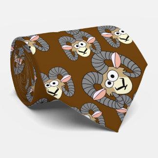 Ovejas torpes lindas del espolón corbata personalizada