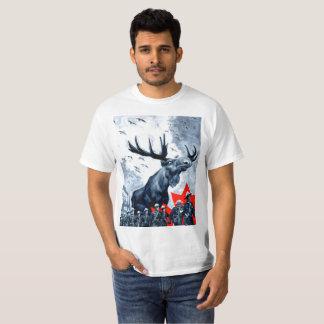 Overlord canadiense vindicativo T de los alces Camiseta